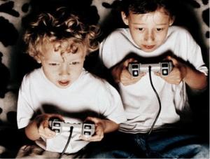 crianca jogando videogame