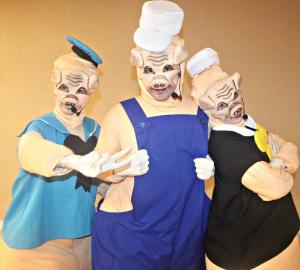 Os tres porquinhosno Américas Shopping